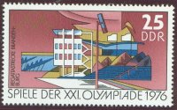 stamp gdr 1976 may 18th og montrea mi 2129 finish tower regatta course brandenburg