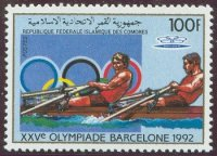 stamp com 1988 apr. 18th og barcelona mi 826 a 2x