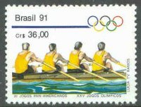 stamp bra 1991 march 20th pan american games and og barcelona mi 2405 m4x
