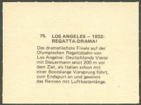 cc ger 1972 wikoe verlag muenchen ruft no. 75 dramatic fight for victory in the m4 final at og los angeles 1932 reverse