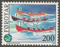 stamp den faroer islands 1989 june 5th international contest of the small islands
