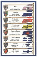 PC GBR Oxford Unuversity Colleges oar blade colours flags and arms II