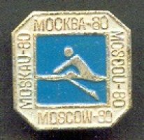 pin urs 1980 og moscow pictogram on blue background moscow 80 on all four margins