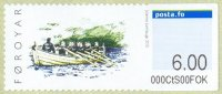 stamp den faroer islands 2010 sept. 20th mi 9 self adhesive cutter crew