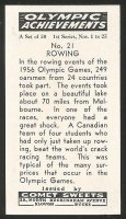 CC GBR COMET SWEETS Olympic Achievements No. 21 Rowing reverse