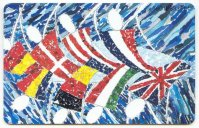 tc ger o 089 02.96 2.000 dtme card art edition no. 3 blades and flags by terri chilton