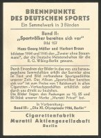 CC GER 1935 MURATTI CIGARETTEN volume II Sportnations prepare for the Olympic Games No. 157 M2 crew H.G. Moeller H. Braun GER reverse