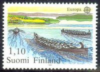 stamp fin 1981 may 18th europa mi 881 churchboats in action