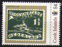 Stamp COK 2012 with image of stamp NED 1928 OG Amsterdam