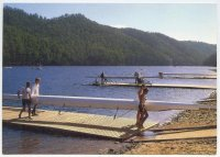 pc aus 1990 wrc lake barrington pontoons with boats and crews