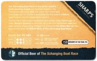 Beer mat GBR SHARPS DOOM BAR Official Beer of the Xchanging Boat Race reverse