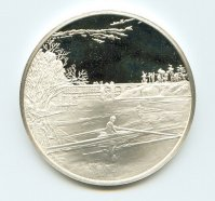 Medal USA Thomas Eakins Max Schmitt in a Single Scull 1871 front Sterling Silver