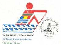 pm tur 1983 sept. 17th balkan rowing championships istanbul logo