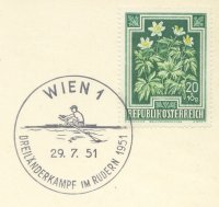 pm aut 1951 july 29th vienna dreilaenderkampf im rudern 1951 three countries rowing match aut ger yug