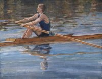 painting gbr oarsman by marc winer 1943 1985