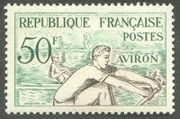 stamp fra 1953 nov. 28th french medal winners at og helsinki mi 982 drawing of 2 honouring salles mercier cox malivoire gold medal winners