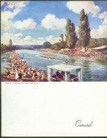 cc gbr 1957 menu card rms queen elizabeth henley thames challenge cup