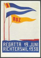 pc sui 1986 reprint of poster sui 1938 regatta richterswil