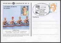 stationary ii ger 1999 nov. 6th kathrin boron w4x ger olympic champion og atlanta 1996 philex no. 56