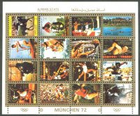stamp ajman 1972 og munich ms mi 2621 36 small size