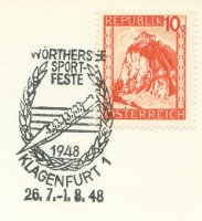 pm aut 1948 july 26th aug. 1st klagenfurt woerthersee sportfeste stylized 8
