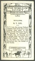 cc gbr 1927 lambert  butler the world of sport no. 35 - sculling - r. t. lee reverse