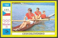 cc ita 1972 og munich panini no. 154 the svojanovsky brothers tch silver medal winners in the 2 event
