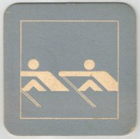 Beer mat GER 1972 Olympic pictogram No. 3 OG Munich