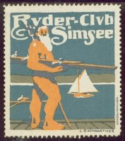 cinderella ger ruder club simsee poseidon with boat unter his right arm single sculler sailing boat