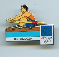 pin gre og athens 2004 1x with official logo of the games