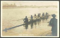 pc gbr 1905 the oxford crew with composition of crew written on the back