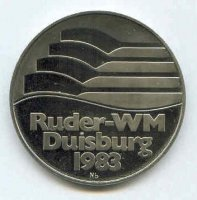 medal ger 1983 wrc duisburg logo world s first niobium medal 1400 issed