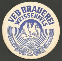 Beer mat GDR 1984 100 years Rowing in Weissenfels reverse