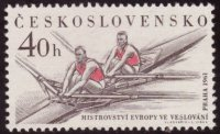 stamp tch 1961 febr. 10th erc prague mit 1246 2x