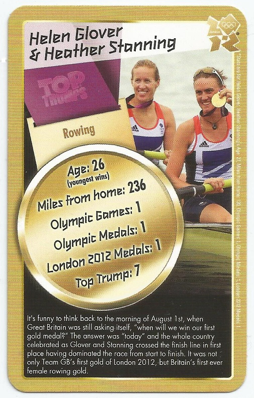 CC GBR 2012 OG TOP TRUMPS OG London W2 gold medal win for H. Glover H. Stanning GBR