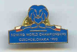 pin cze 1993 wrc racice sculling lion logo on blue background