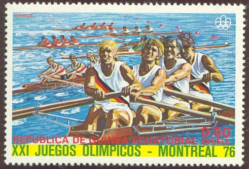 stamp geq 1976 march 5th og montreal 1976 4 race